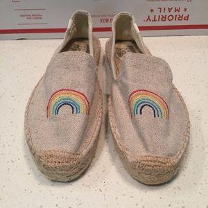 Soludos Rainbow Espadrilles Shoes, Sz 9
